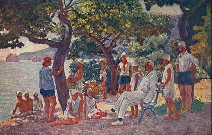 Πρωινό Σεπτεμβρίου στο Artek Ilya Mashkov 1926