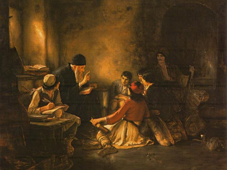 Το κρυφό σχολειό - Γύζης 1885