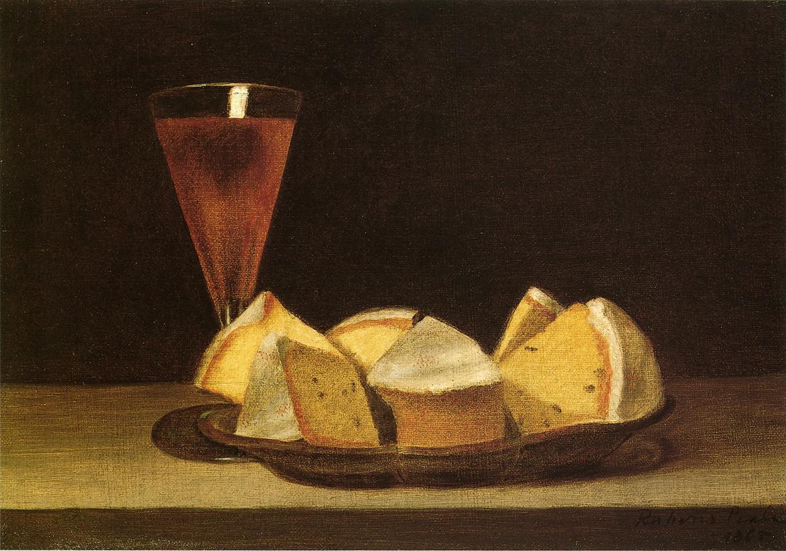 Κέικ κι ένα ποτήρι κρασί -Rubens Peale - 1865