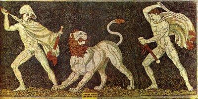 Ο Ηφαιστίωνας και ο Αλέξανδρος σε κυνήγι