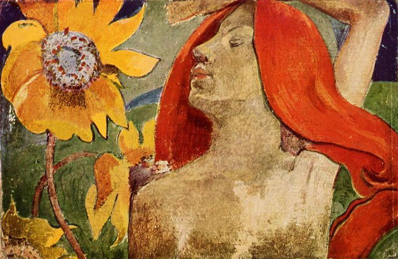 Η κοκκινομάλλα και τα Ηλιοτρόπια - Paul Gauguin