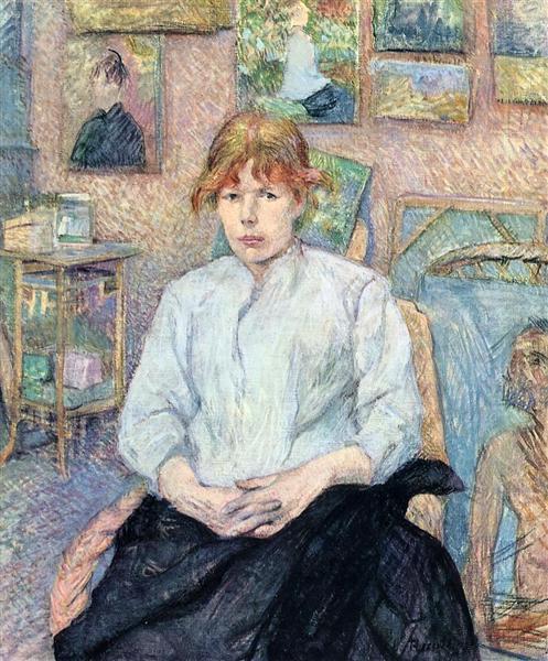Η κοκκινομάλλα με τη λευκή μπλούζα - Henri de Toulouse-Lautrec - 1888