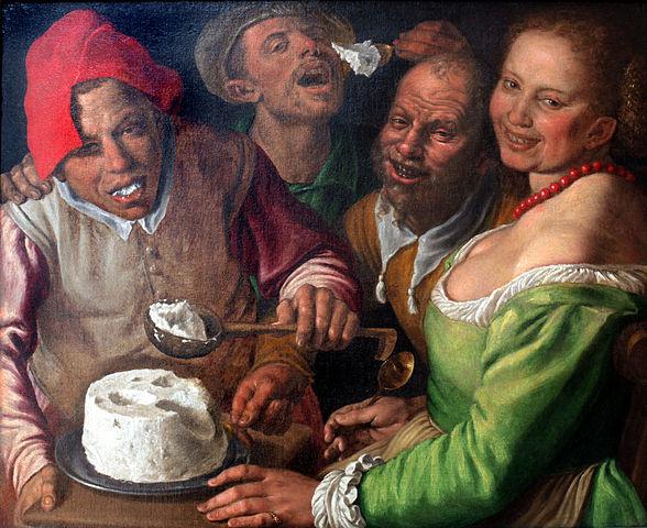 Οι τρώγοντες ρικότα (μαλακό τυρί) -Vincenzo Campi 1580