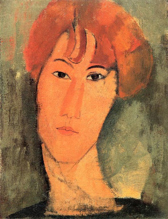 Νεαρή κοκκινομάλλα Amedeo Modigliani - γύρω στο 1917