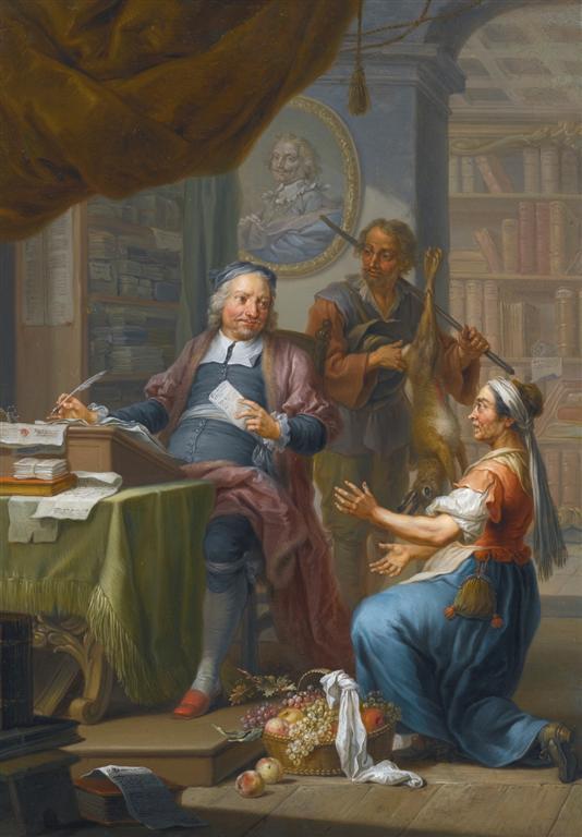 Ένας φοροεισπράκτορας ζητάει τον φόρο από έναν κυνηγό και τη γυναίκα ενός αγρότη -Franz Christoph Janneck