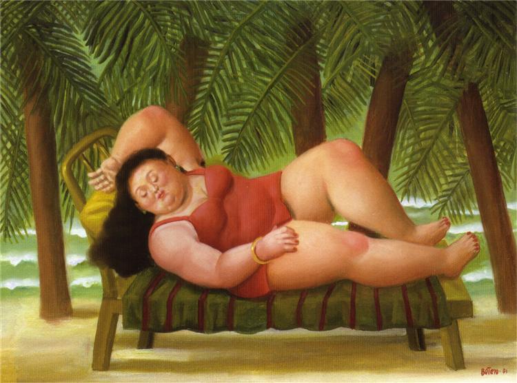 Λουόμενη στην παραλία Fernando Botero 2001