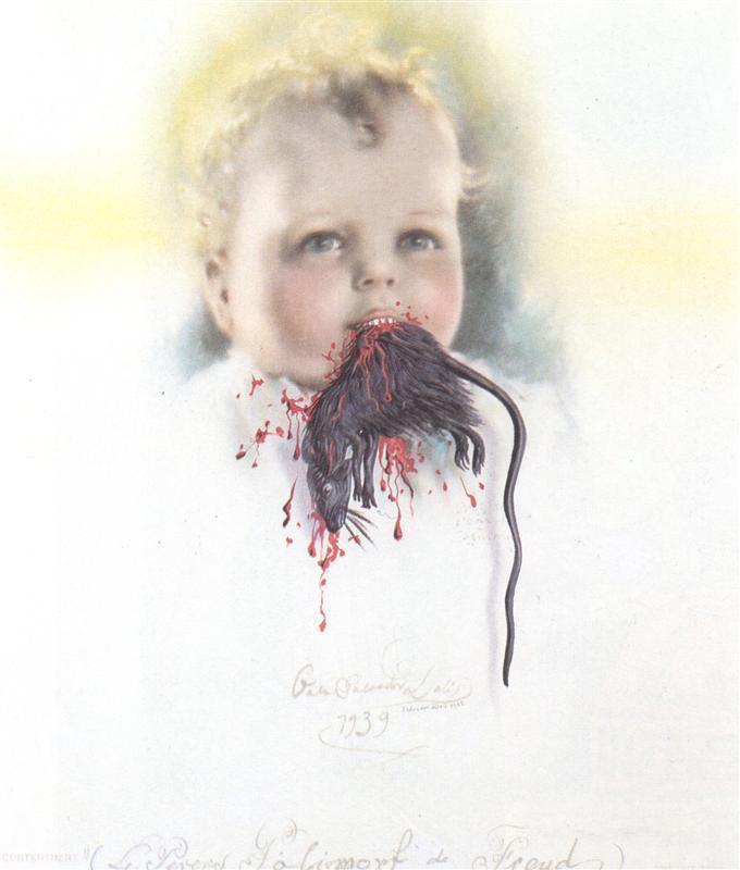 παιδί από τη Βουλγαρία τρώει έναν αρουραίο - Salvador Dali 1939