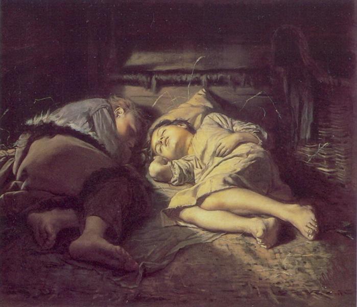 Παιδιά που κοιμούνται Vasily Perov 1870