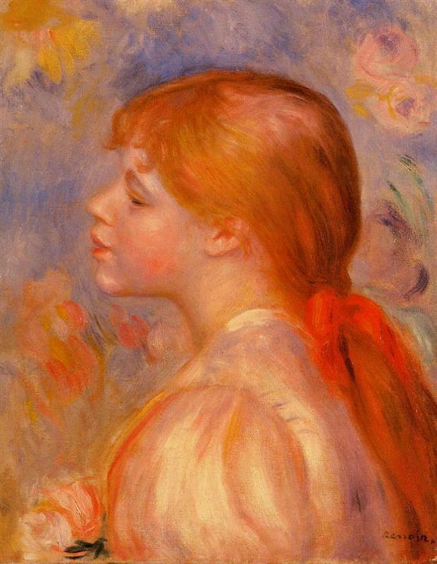 κοπέλα με κόκκινα μαλλιά και κορδέλα Pierre-Auguste Renoir 1891