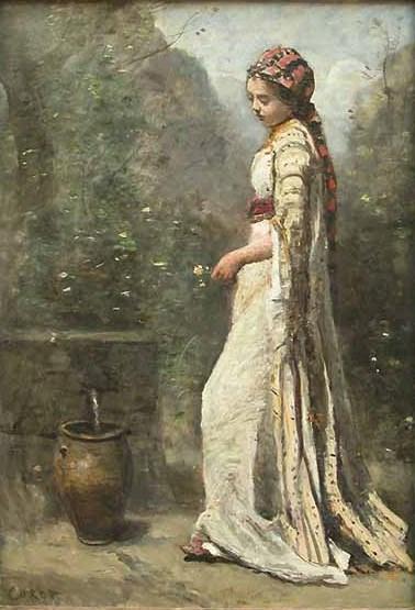 νεαρή Ελληνίδα δίπλα σε κρήνη - Jean-Baptiste-Camille Corot - 1865-1870