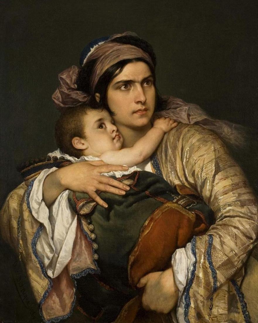 Ελληνίδα Μάνα Cesare dell'Acqua - 1860
