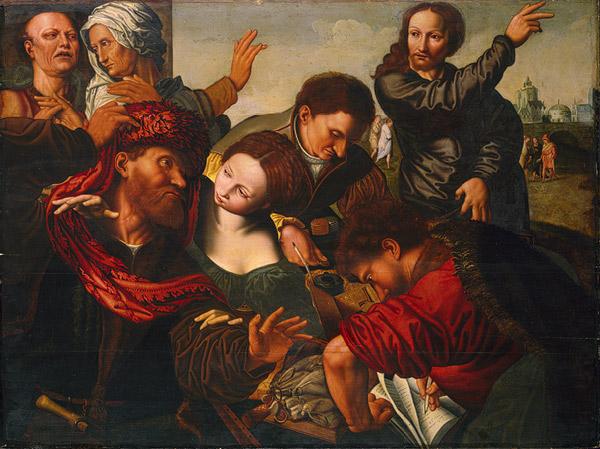 η κλήτευση του Ματθαίου από την εφορία -Jan van Hemessen 1540