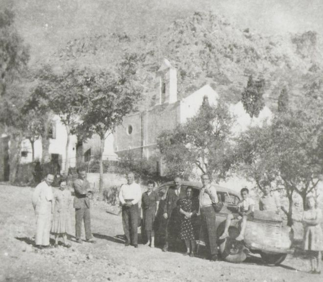 (1945 - Ο Καζαντζάκης στην Κρήτη με τον Γιάννη Κακριδή και τον Ιωάννη Καλιτσουνάκη)