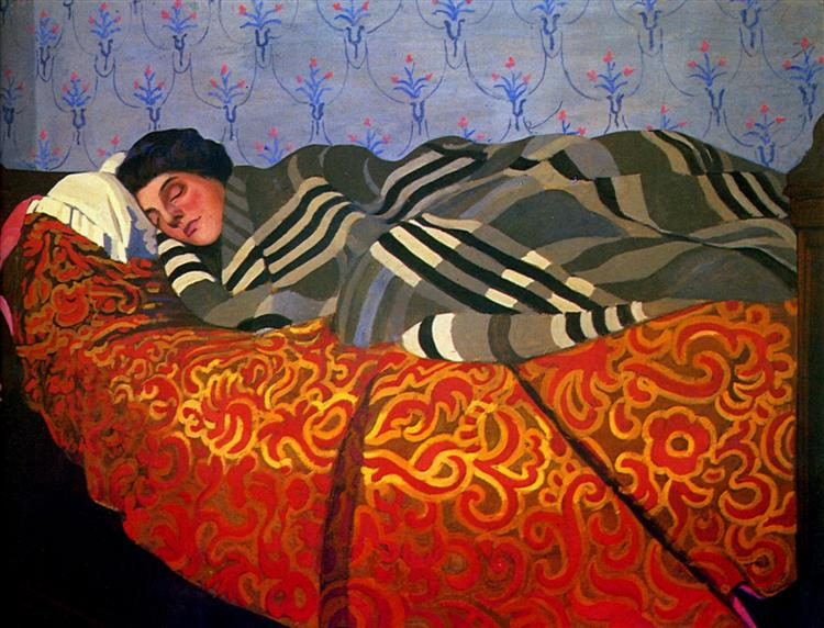 γυναίκα ξαπλωμένη κοιμάται - Felix Vallotton 1899