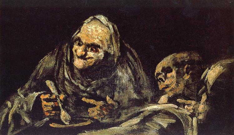 γέρος τρώει σούπα -Francisco Goya 1823