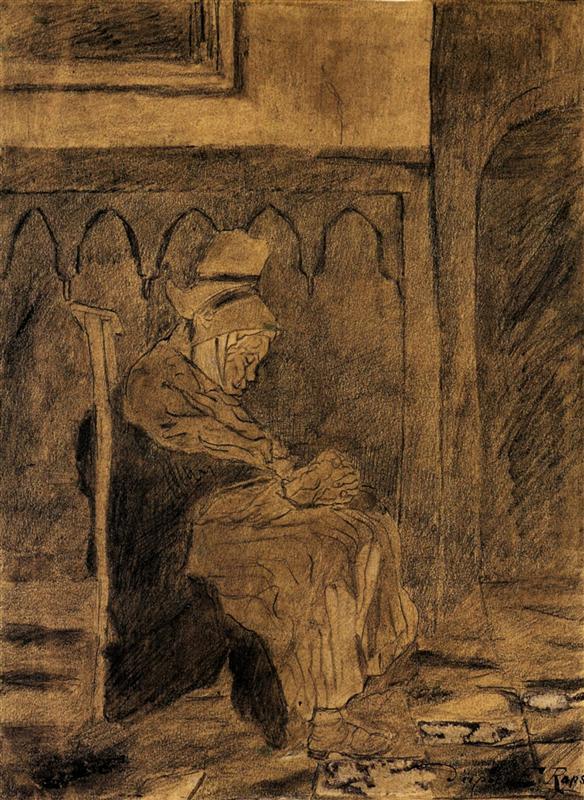 Ηλικιωμένη γυναίκα κοιμάται Vincent van Gogh 1873