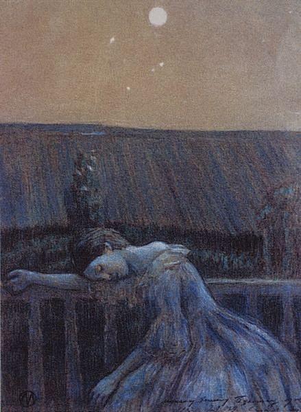 Σε ένα μπαλκόνι Victor Borisov-Musatov 1899