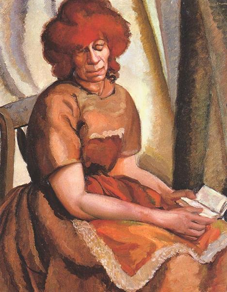 Κοκκινομάλλα διαβάζει - Tamara de Lempicka 1922