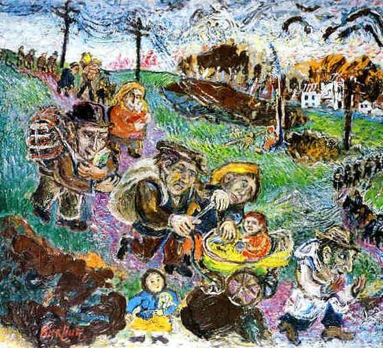 Πρόσφυγες (Η φρίκη του πολέμου) -David Burliuk