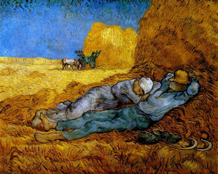 διάλειμμα εργασίας Vincent van Gogh 1890