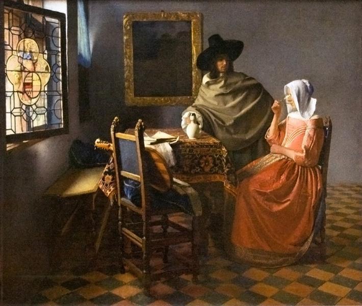 ένα ποτήρι κρασί -Johannes Vermeer 1658