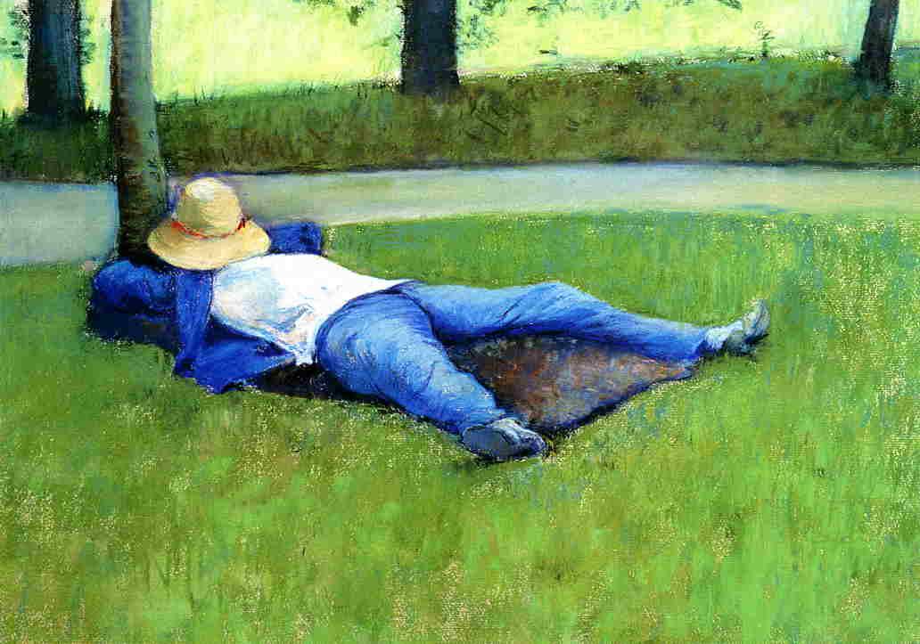 υπνάκος - Gustave Caillebotte 1877