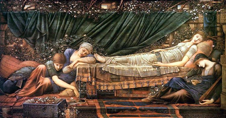 H ωραία κοιμωμένη Edward Burne-Jones 1890