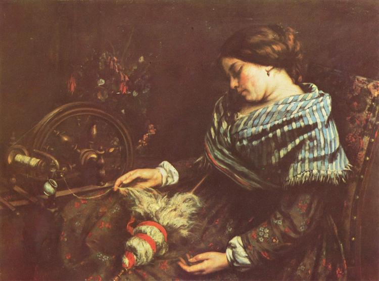 η κοιμωμένη με το κέντημα Gustave Courbet 1853