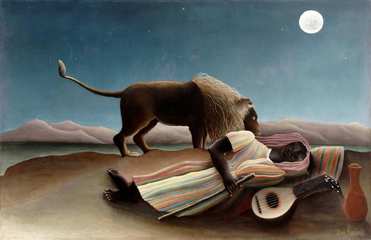 ο κοιμώμενος τσιγγάνος Henri Rousseau 1897