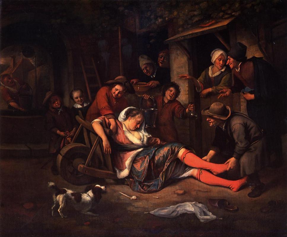 Το κρασί γεννάει χλευασμό Jan Steen 1668
