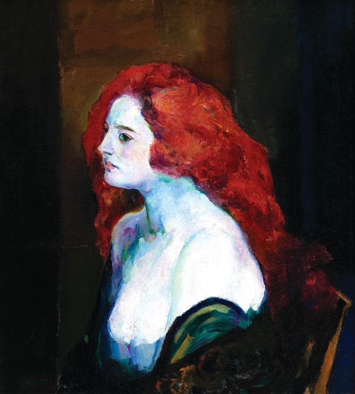 Γυναίκα με κόκκινα μαλλιά - Arthur Beecher Carles 1922