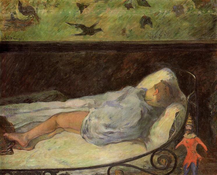 νεαρό κορίτσι που κοιμάται Paul Gauguin 1881