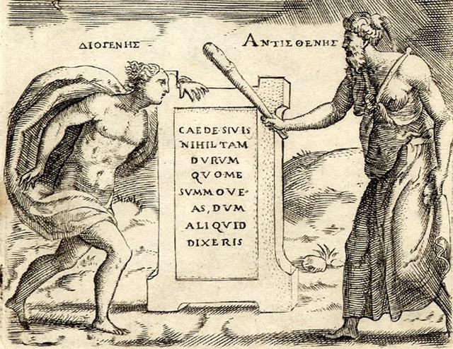 Giulio_Bonasone_-_Diogenes_and_Antisthenes_detail
