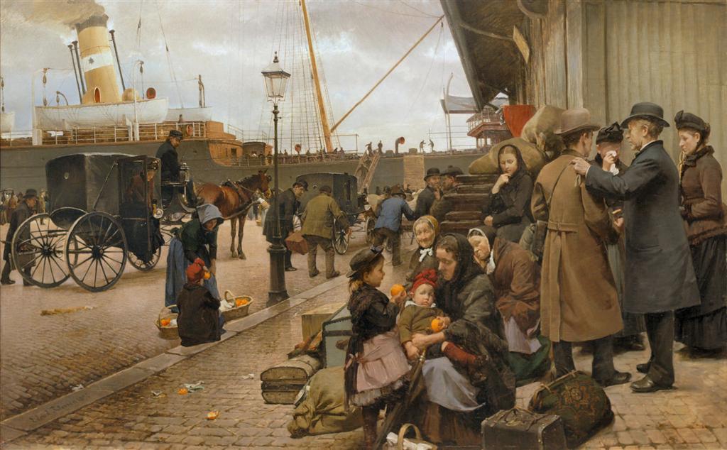 οι μετανάστες του Larsens Plads -Edvard Petersen - 1890
