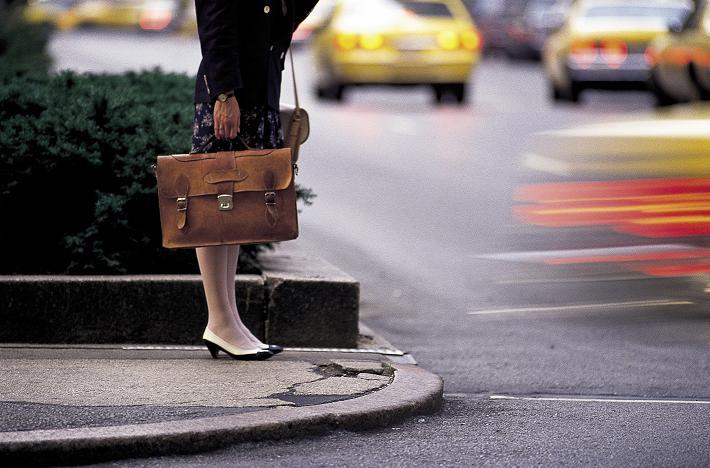 leaving businesswoman