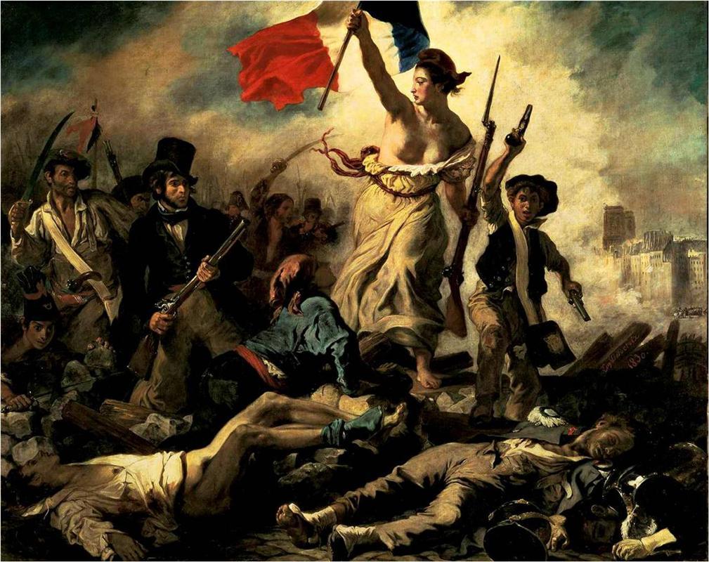 η ελευθερία οδηγεί το λαό -Eugene Delacroix 1830