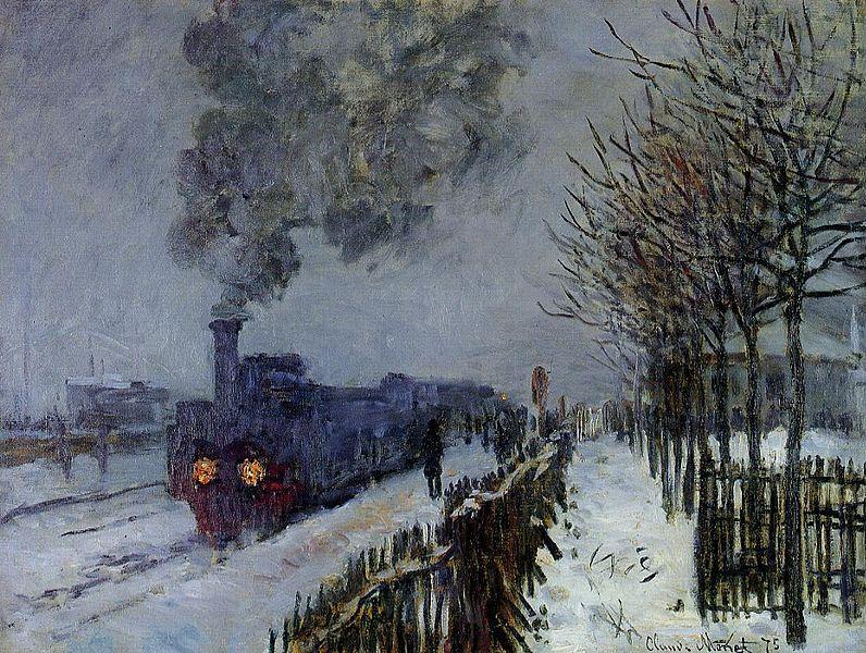 Κλοντ Μονέ - Τρένο στο χιόνι