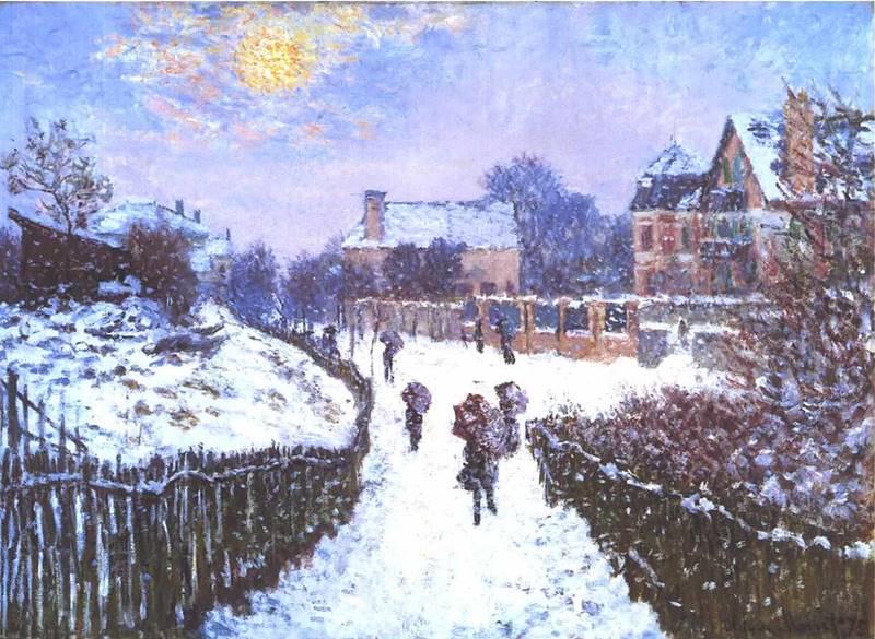 Μονέ - Η οδός Saint Denis στο Argenteuil το χειμώνα