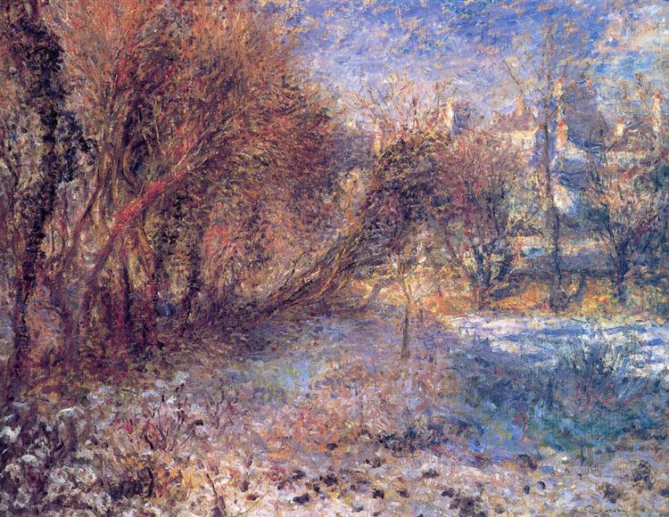 Τοπίο με χιόνια- Pierre-Auguste Renoir 1875
