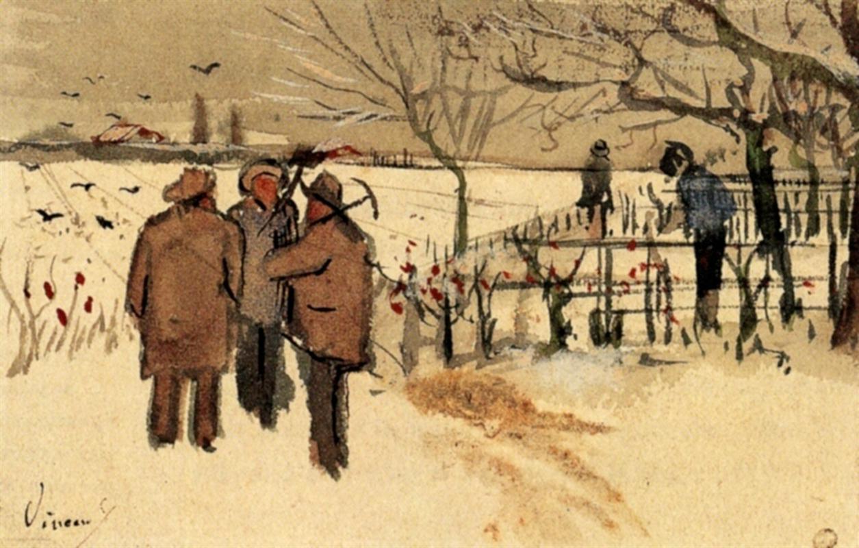 ανθρακωρύχοι στο χιόνι το χειμώνα- Vincent van Gogh 1882