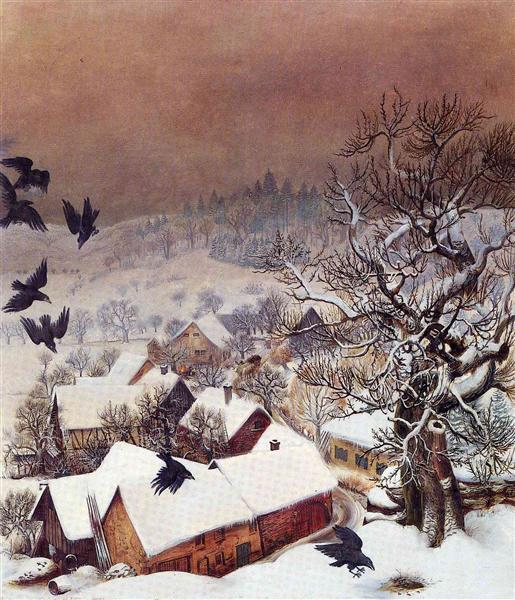 χιόνι με κοράκια στο Randegg -Otto Dix
