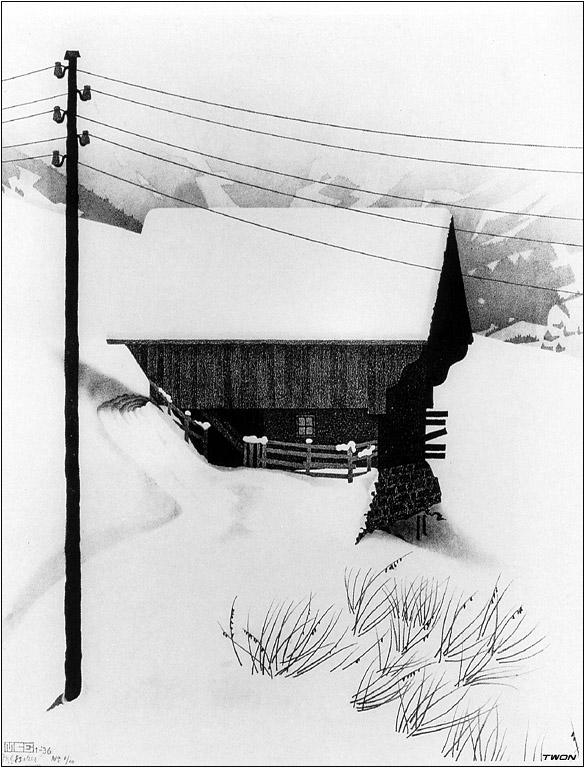 χιόνι - M.C. Escher 1936