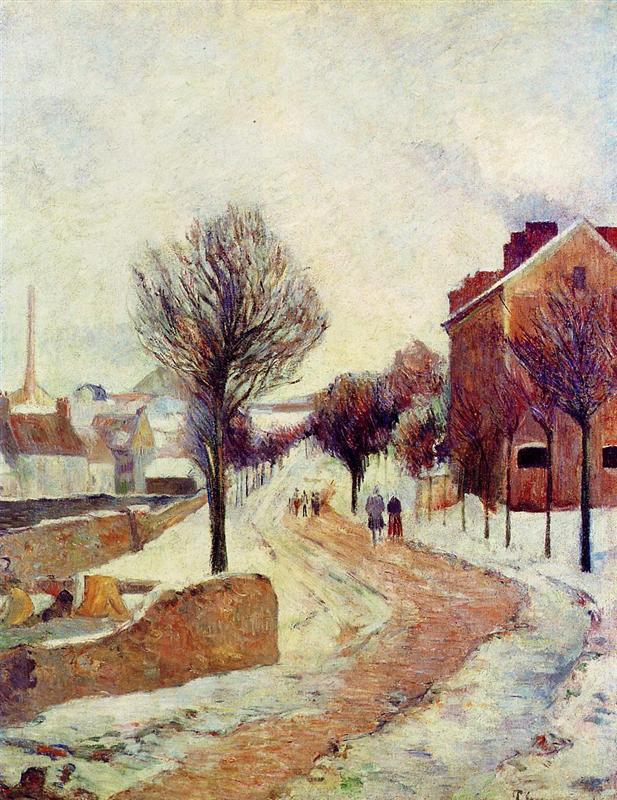 Προάστιο μέσα στα χιόνια - Paul Gauguin 1886