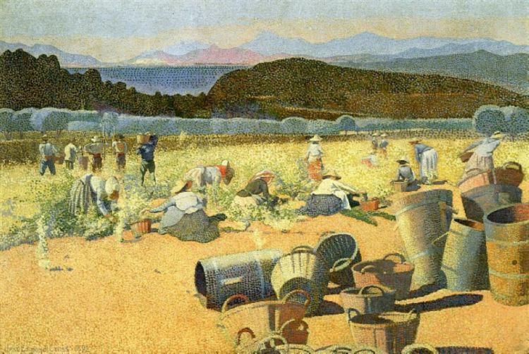 ο τρύγος -Henri-Edmond Cross