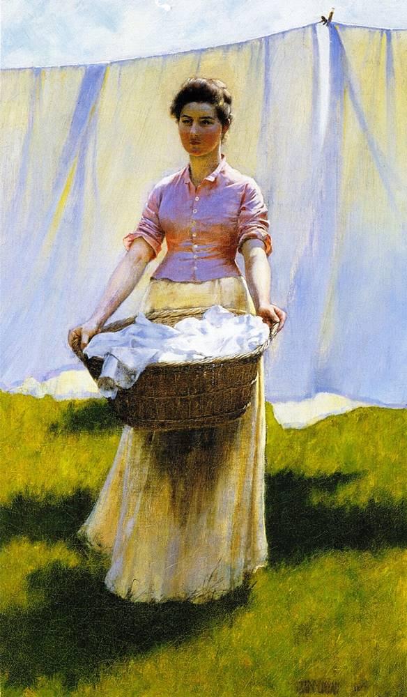 Το άπλωμα των ρούχων -Charles Courtney Curran 1887