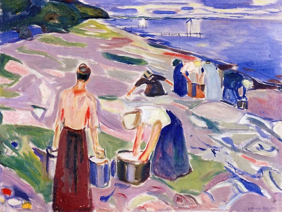 Πλύσιμο δίπλα στη θάλασσα -Edvard Munch - 1920-1930