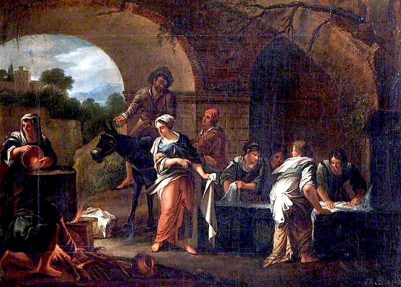 Πλύστρες ρούχων σε Κρήνη Elizabeth Cust - 1802