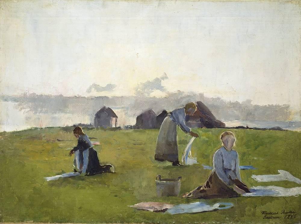 στέγνωμα ρούχων - Harriet Backer - περίπου το 1890