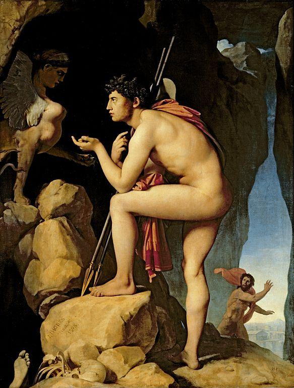 """""""Ο Οιδίπους λύνει το αίνιγμα της Σφίγγας"""" -1808"""