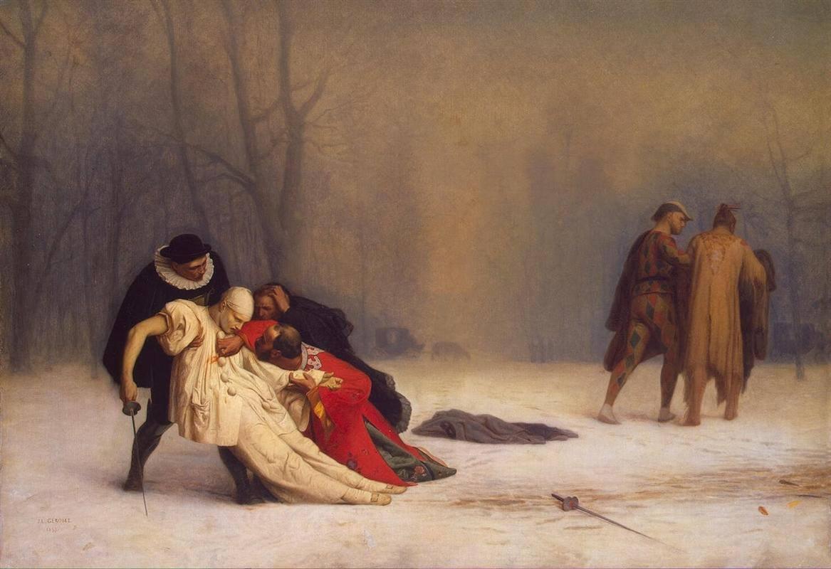 Jean-Leon Gerome - H μονομαχία μετά το πάρτι μασκέ (1859)